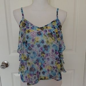 Annianna Summer Sheer Cami Tank Sz Medium